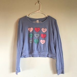 long sleeve cropped pyjama top